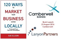 120 Ways To Market Your Business Hyper Locally Book Launch Sue Ellson